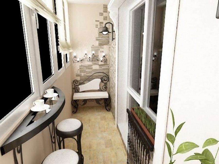 Фото дизайнов балконов внутри