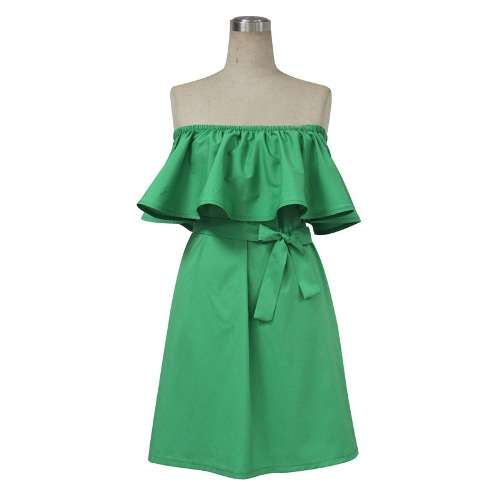 Как шить платье воланом