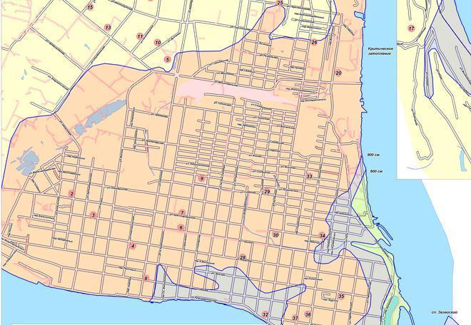 Перед вами карта Благовещенска