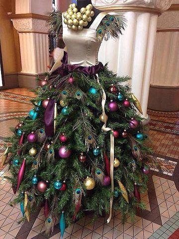 Украсить новогоднее платье своими руками