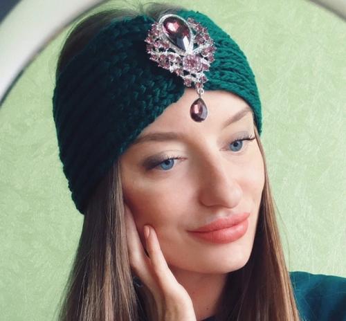 моя мадонна уютное хобби красивая повязка на голову своими руками